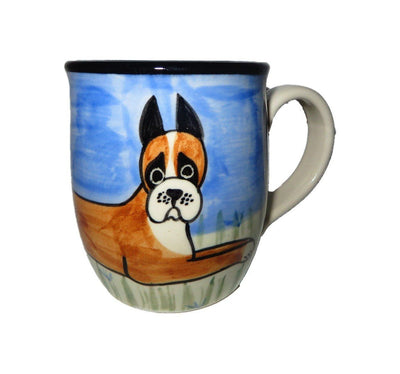 Boxer Hand-Painted Ceramic Mug
