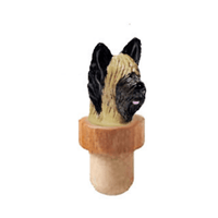 Briard Head Cork Bottle Stopper