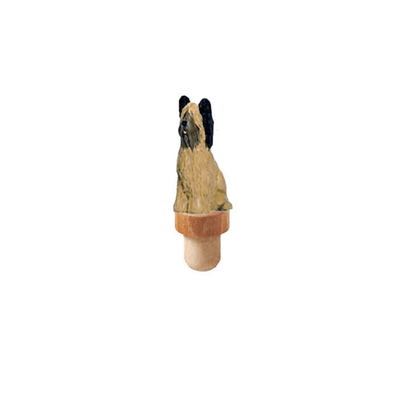 Briard Figurine Cork Bottle Stopper