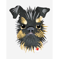 Reed Evins Brussels Griffon Dog Collage