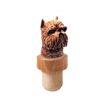 Brussels Griffon Head Cork Bottle Stopper