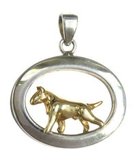 Bull Terrier Sterling & 14k Gold Jewelry