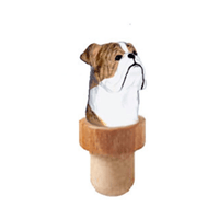 Bulldog Head Cork Bottle Stopper