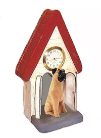 Bullmastiff Figurine Clock