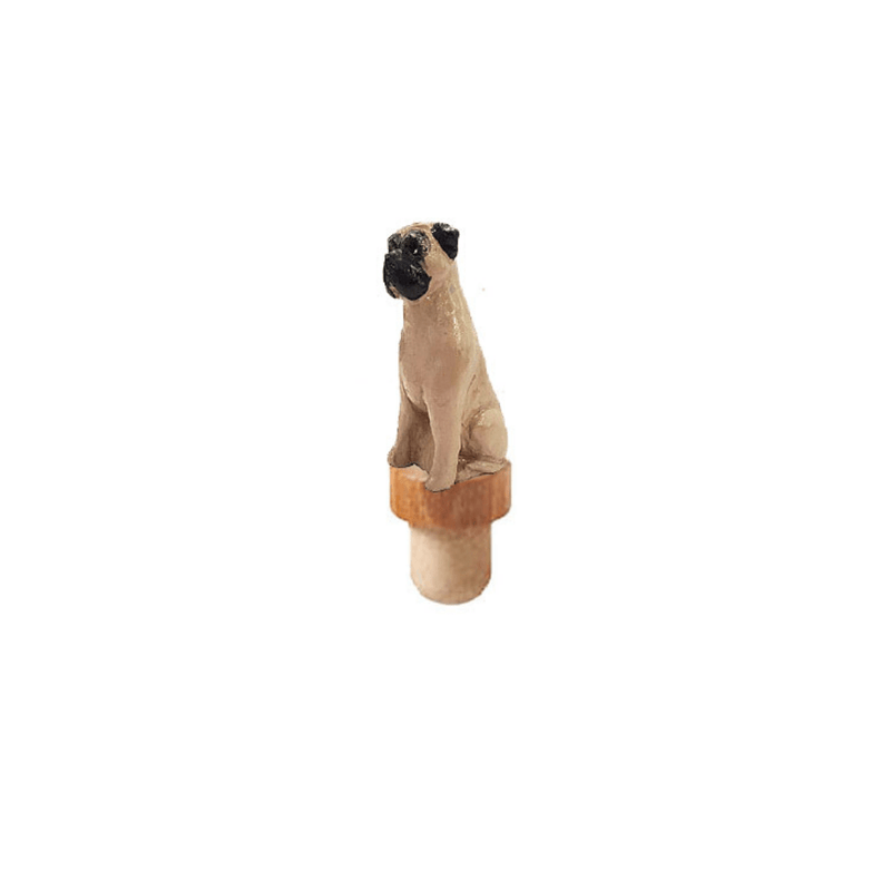 Bullmastiff Figurine Cork Bottle Cork