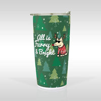 """All Is Furry And Bright"" Travel Mug"