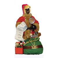 Cairn Terrier Toy List Santa Statue