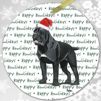 "Cane Corso ""Happy Howlidays"" Ornament"
