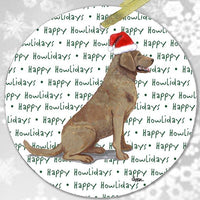 "Chesapeake Bay Retriever ""Happy Howlidays"" Ornament"