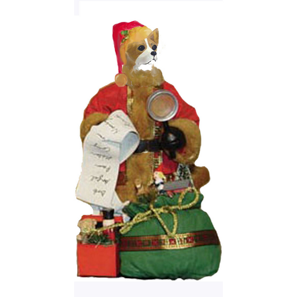 Chihuahua, Smooth, Toy List Santa Statue