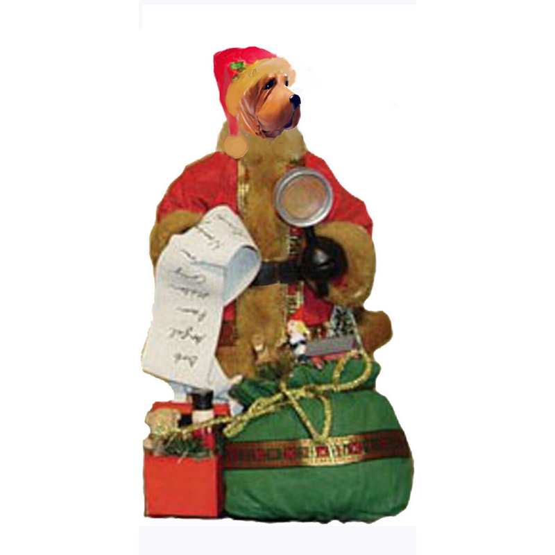 Chinese Shar-Pei Toy List Santa Statue