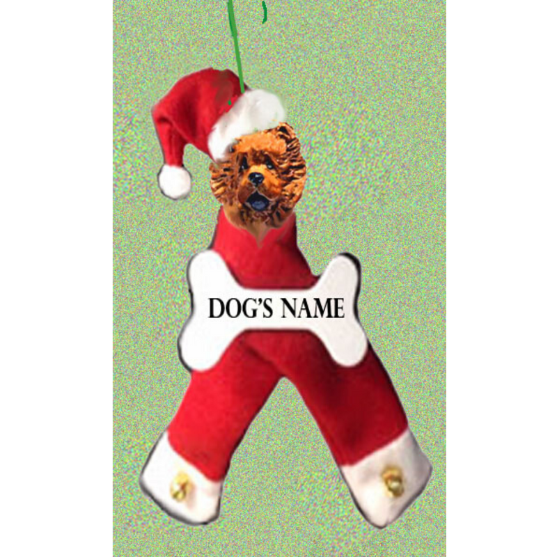 Chow Chow Santa Bone Ornament