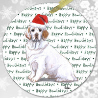 "Clumber Spaniel ""Happy Howlidays"" Ornament"