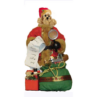 Cocker Spaniel Toy List Santa Statue