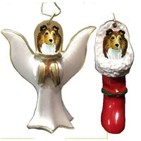 Collie, Rough Ornament Set