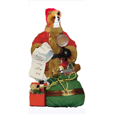 Pembroke Welsh Corgi Toy List Santa Statue