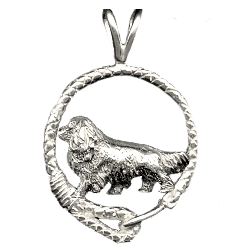 Cavalier King Charles Spaniel in Solid Sterling Silver Leash Pendant