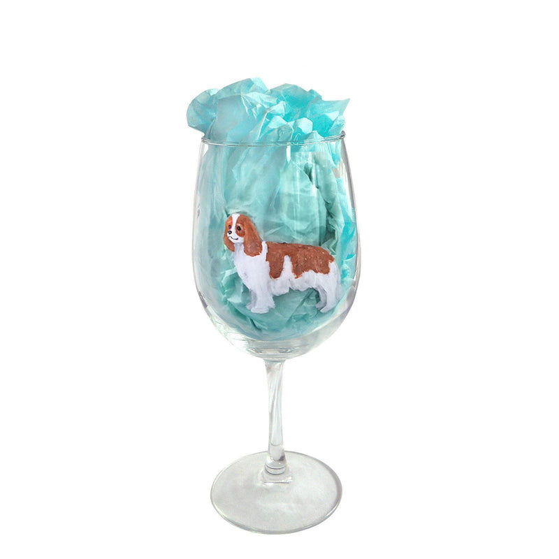 Hand-Painted Dog Breed Wine Glass - Toy Group