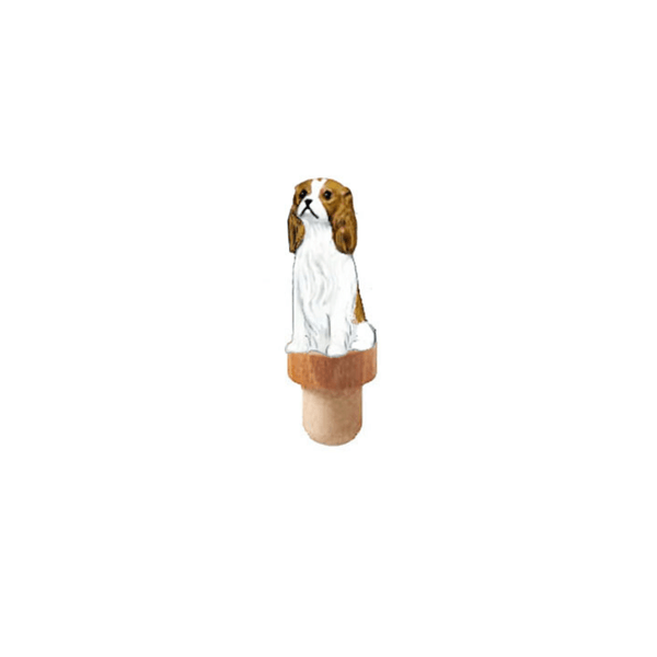 Cavalier King Charles Spaniel Figurine Cork Bottle Stopper
