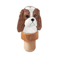 Cavalier King Charles Spaniel Head Cork Bottle Stopper
