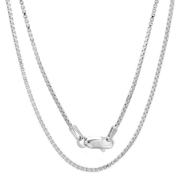 Solid Sterling Silver Box Chain