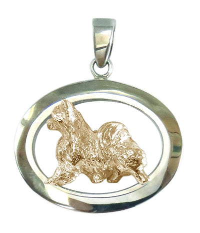 Chihuahua Longhaired Sterling & 14k Gold Jewelry