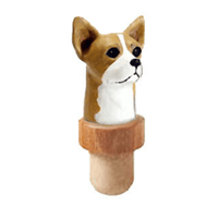 Chihuahua, Smooth, Head Cork Bottle Stopper