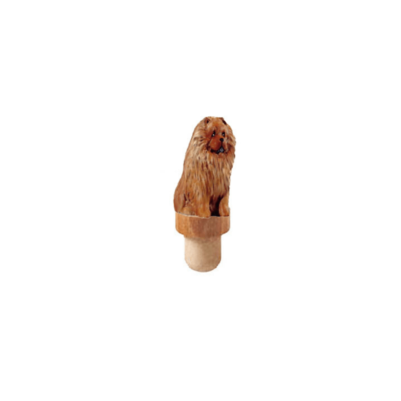 Chow Chow Figurine Cork Bottle Stopper