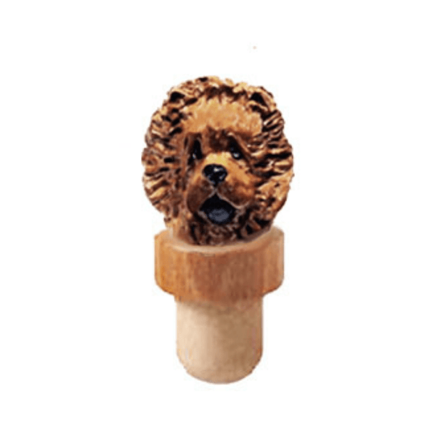 Chow Chow Head Cork Bottle Stopper