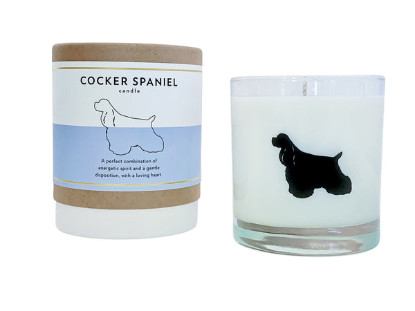 Cocker Spaniel Candle