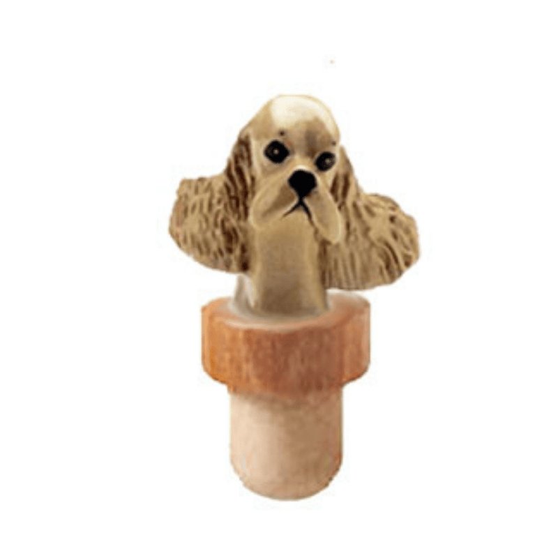 Cocker Spaniel Head Cork Bottle Stopper