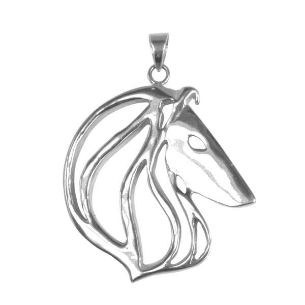 Collie Sterling Silver Cut Out Pendants