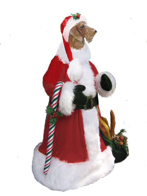 Dachshund, Wirehaired, Large Santa Statue