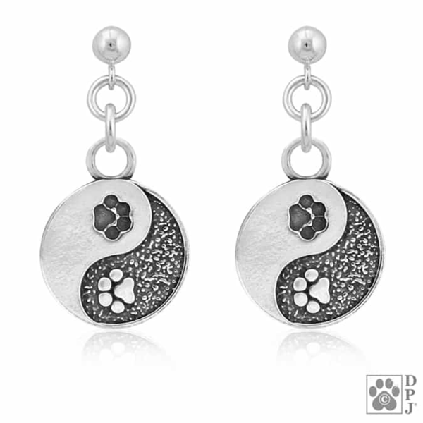 Yin & Yang Paw Earrings