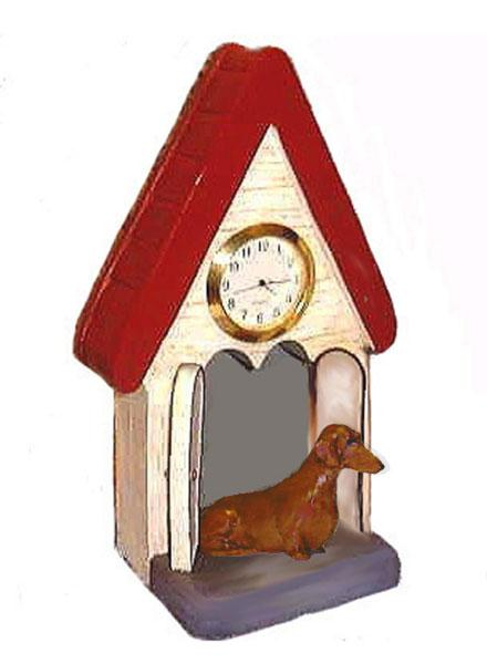 Dachshund, Smooth, Figurine Clock