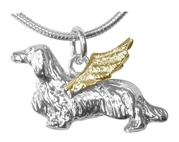 Dachshund, Longhaired, Angel Charm