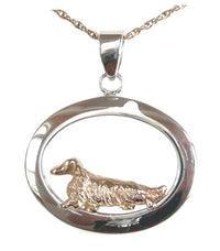Dachshund Longhaired Sterling & 14k Gold Jewelry
