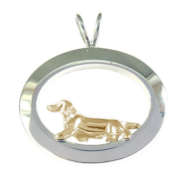 Dachshund Sterling & 14k Gold Jewelry