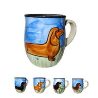 Dachshund Hand-Painted Ceramic Mug