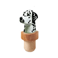 Dalmatian Head Cork Bottle Stopper