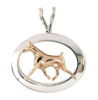 Doberman Pinscher Sterling & 14k Gold Jewelry