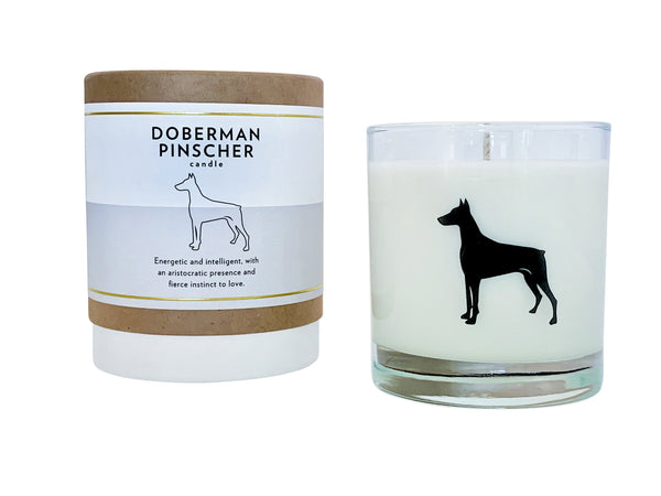 Doberman Pinscher Candle
