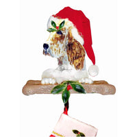 English Setter Santa Stocking Holder