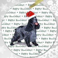 "English Cocker Spaniel ""Happy Howlidays"" Ornament"