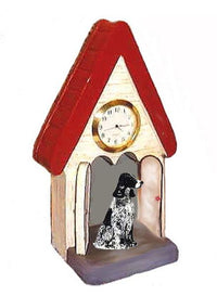 English Cocker Spaniel Figurine Clock