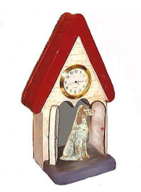 English Setter Figurine Clock