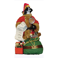 English Cocker Spaniel Toy List Santa Statue