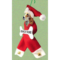 English Setter Santa Bone Ornament