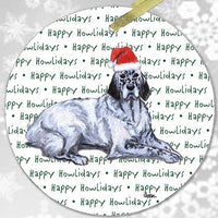 "English Setter ""Happy Howlidays"" Ornament"