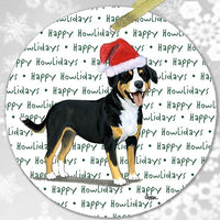"Entelbucher Mountain Dog ""Happy Howlidays"" Ornament"